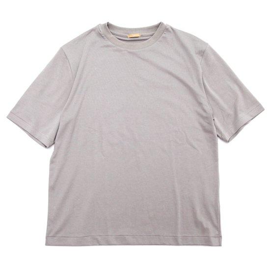 LAMOND ラモンド SUVIN COTTON 五分 TEE (グレイ)(五分袖Tシャツ)