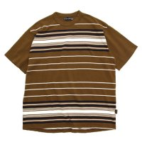 Nasngwam ナスングワム|THE WAVE TEE (ブラウン)(Tシャツ)