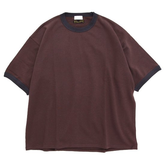 Nasngwam ナスングワム × SPINNER BAIT RINGER TEE (ブラウン)(Tシャツ)
