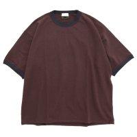 Nasngwam ナスングワム|× SPINNER BAIT RINGER TEE (ブラウン)(Tシャツ)