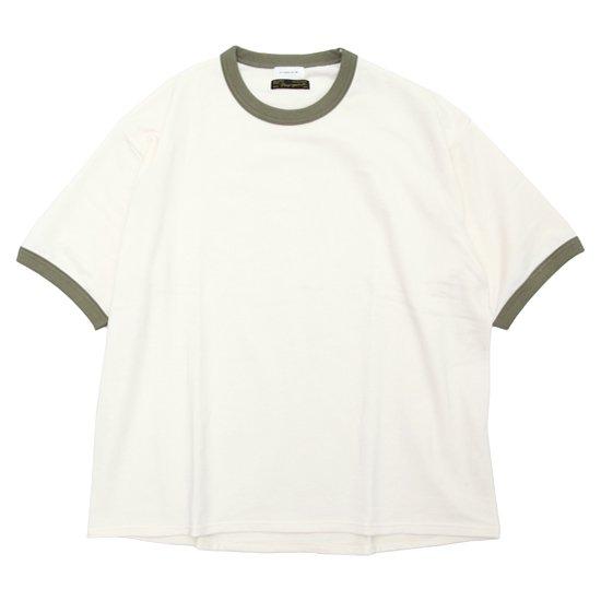 Nasngwam ナスングワム|× SPINNER BAIT RINGER TEE (ナチュラル)(Tシャツ)