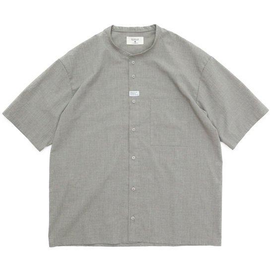 remilla レミーラ|コルトネックシャツ (サンド杢)(ほぼノーカラーシャツ)