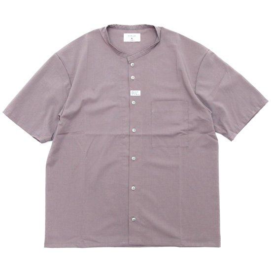 remilla レミーラ|コルトネックシャツ (サンドピンク)(ほぼノーカラーシャツ)