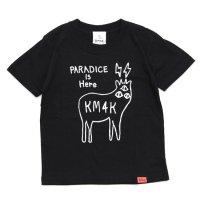 KM4K カモシカ|KIDS LOGO T's (ブラック)(キッズTシャツ)(カモシカ ロゴTEE)