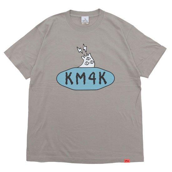 KM4K カモシカ LOGO T's (ミルキーグレイ)(カモシカ ロゴTEE)