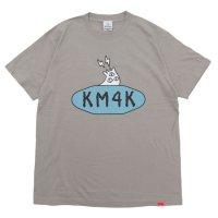KM4K カモシカ|LOGO T's (ミルキーグレイ)(カモシカ ロゴTEE)