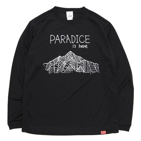 KM4K カモシカ OG ロング化繊Tシャツ T'S AS (ブラック)(ロングTシャツ 吸水速乾) ANOTHERSKY
