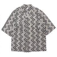 HiHiHi ひひひ|五分袖 カイキンシャツ (ジグザグ)(開襟シャツ)