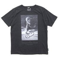 GO HEMP ゴーヘンプ|Imperfection S/SL TEE (ガンメタルグレイ)(プリントTシャツ)