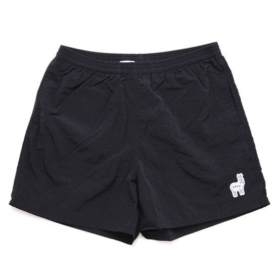 【KM4K カモシカ】WORK SHORT PANTS (ブラック)(ショートパンツ)(ナイロン)