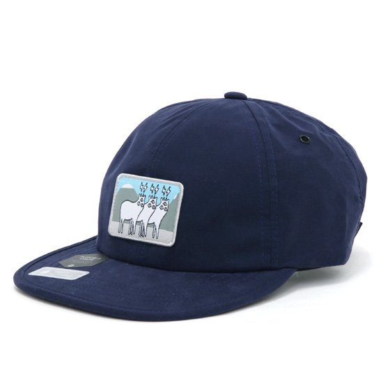 【KM4K カモシカ】 DAD CAP 2 (NAVY)(撥水)(キャップ)