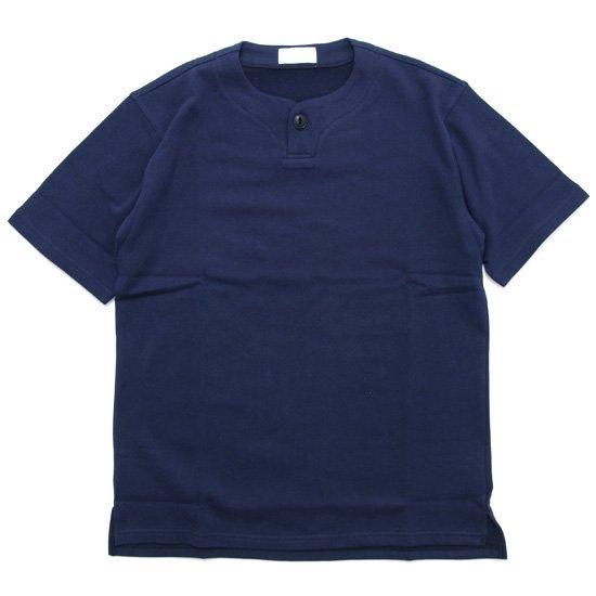 SPINNER BAIT スピナーベイト ミニ裏毛 1ボタン ヘンリー (ネイビー)(Tシャツ)
