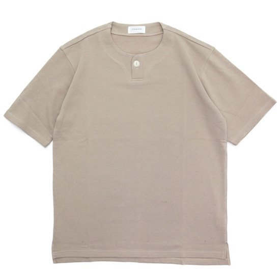 SPINNER BAIT スピナーベイト|ミニ裏毛 1ボタン ヘンリー (コヨーテ)(Tシャツ)