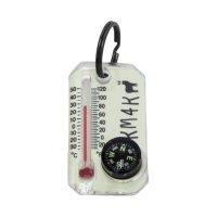 【KM4K カモシカ】KM4K COMPASS(温度計)(コンパス)(蓄光)