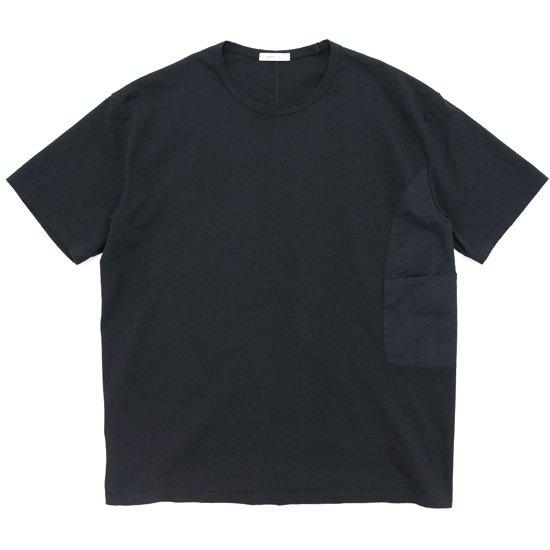 remilla レミーラ カバーポケット Tee (ブラック)(無地Tシャツ)
