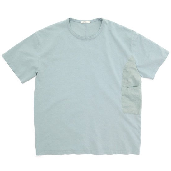 remilla レミーラ|カバーポケット Tee (ミントブルー)(無地Tシャツ)