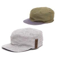 【horizon ホライズン 】別注カラー The Work cap (アッシュ)(オリーブ)(リバーシブル)(ワークキャップ)(ハンドメイド)(ヘンプ)