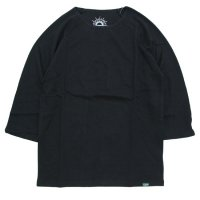 GO HEMP ゴーヘンプ|SUN BLEND WARMER  BASEBALL TEE (マットブラック)(七分袖Tシャツ サンブレンドウォーマー)