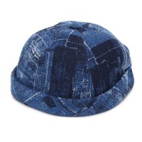 GO HEMP ゴーヘンプ|INDIGO OLD CLOTH ROLL CAP (インディゴ)(ロールキャップ)