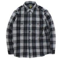 【GREEN CLOTHING グリーンクロージング】WOOL FLANNEL SHIRTS (グレイチェック)(ウールフランネルシャツ)