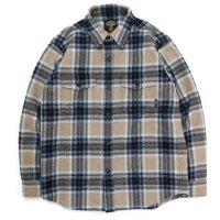 【GREEN CLOTHING グリーンクロージング】WOOL FLANNEL SHIRTS (ベージュチェック)(ウールフランネルシャツ)