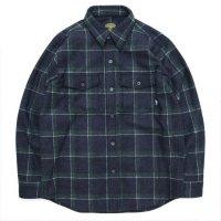 【GREEN CLOTHING グリーンクロージング】WOOL FLANNEL SHIRTS (グリーンチェック)(ウールフランネルシャツ)