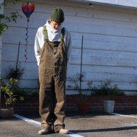 GO HEMP ゴーヘンプ|9W CORDUROY TUBE VENDOR ALL PANTS (リーフグリーン)(オーバーオール)