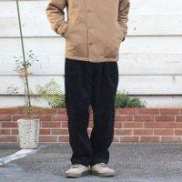 GO HEMP ゴーヘンプ|9W CORDUROY ONE TUCK ACTIVE PANTS (ブラック)(イージーパンツ)