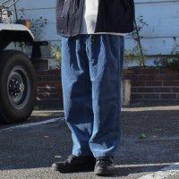 GO HEMP ゴーヘンプ|9W CORDUROY ONE TUCK ACTIVE PANTS (ベビーブルー)(イージーパンツ)
