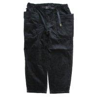 GO HEMP ゴーヘンプ|9W CORDUROY VENDOR TAPERED EG PANTS (ブラック)(イージーパンツ)