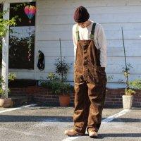 GO HEMP ゴーヘンプ|HEMP TREE CAMO TUBE VENDOR ALL PANTS (ブラウンカモ)(オーバーオール)