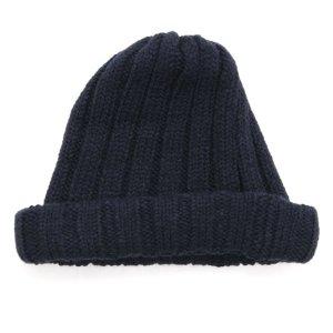 remilla レミーラ|リブニット帽 (ダークネイビー)(ワッチキャップ)