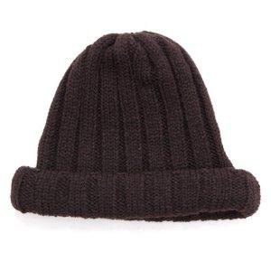 remilla レミーラ|リブニット帽 (ダークブラウン)(ワッチキャップ)