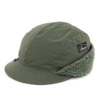GO HEMP ゴーヘンプ|EAR FLAP CAP (ケールグリーン)(イヤーフラップキャップ)
