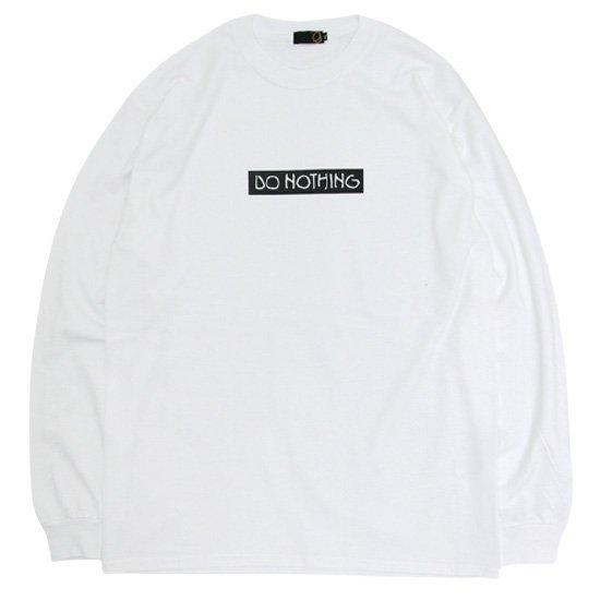 【GREEN CLOTHING グリーンクロージング】#1 DO NOTHING ロングスリーブT(ホワイト)(田口勝朗)(長袖Tシャツ)