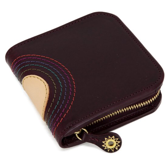 MAGIC THEATER RAINBOW 22°HALO 11 ZIP PURSE (PRUNE)