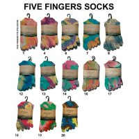 GO HEMP FIVE FINGERS TIE DYE SOCKS