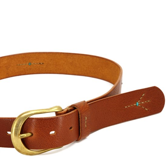 MAGIC THEATER STITCH PEACE 12 PIN BELT (BROWN)
