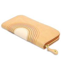 MAGIC THEATER RAINBOW 22°HALO 12 ZIP LONG PURSE (NATURAL)