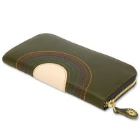 MAGIC THEATER RAINBOW 22°HALO 12 ZIP LONG PURSE (MOSS GREEN)