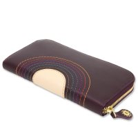 MAGIC THEATER RAINBOW 22°HALO 12 ZIP LONG PURSE (PLUNE)