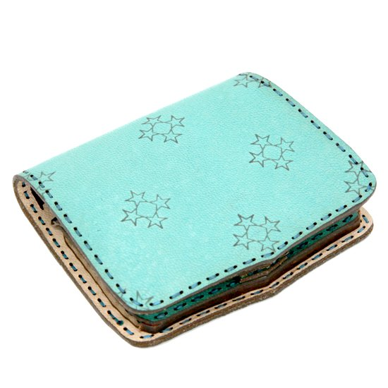 OjagaDesign Short wallet Sylph (エメラルド)