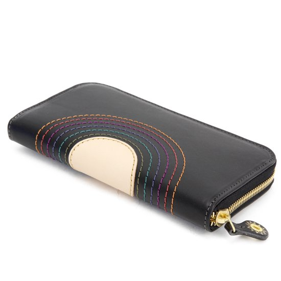 MAGIC THEATER RAINBOW 22°HALO 12 ZIP LONG PURSE (BLACK)