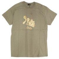 GREEN CLOTHING (グリーンクロージング)#2 BUILD TEE (カーキ)(プリントTシャツ)