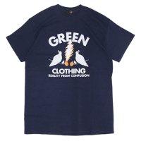 GREEN CLOTHING (グリーンクロージング)#3 Dove Mash TEE (ネイビー)(プリントTシャツ)