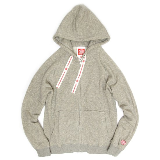 THC SWEAT ZIP HOODY (H.GRAY)