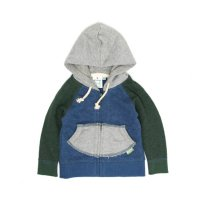 GO HEMP Kodomo BABY ZIP UP PARKA (NAVY BLUE)