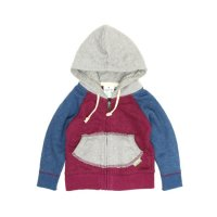GO HEMP Kodomo BABY ZIP UP PARKA (CHERRY PINK)