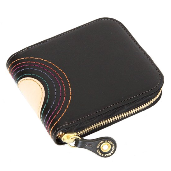MAGIC THEATER RAINBOW 22°HALO 14 ZIP SLIM PURSE (BLACK)