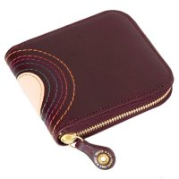 MAGIC THEATER RAINBOW 22°HALO 14 ZIP SLIM PURSE (PRUNE)